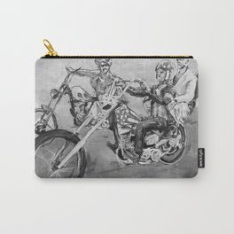 Easy rider black and white Carry-All Pouch
