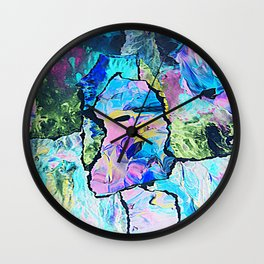 paint paper cut out edit Wall Clock