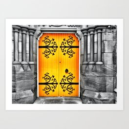 Big Yellow Door Art Print