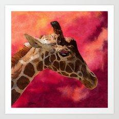 Giraffe - I Don't Want to Talk About It Art Print