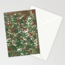 Green & Brown Camo Camouflage Hunting Invisible Military Stationery Cards