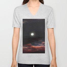 Dawn's moon Unisex V-Neck