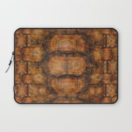 Brown Patterned  Organic Textured Turtle Shell  Design Laptop Sleeve