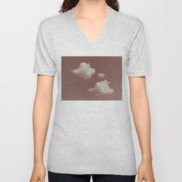 NEPHELAI SERIES Little clouds on dusty pink Unisex V-Neck