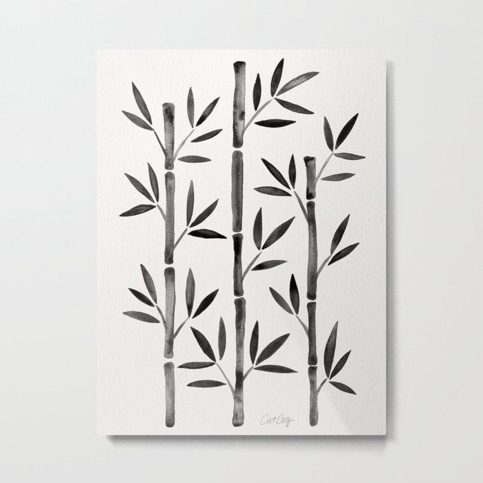 Black Bamboo Metal Print