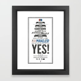 Miracle on Ice Framed Art Print