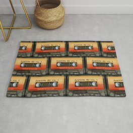 awesome transparent mix cassette tape vol 1 Rug