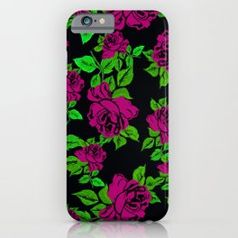 ROSES ROSES PINK AND GREEN iPhone Case