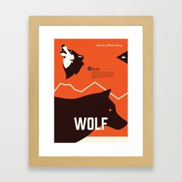 Wildlife of North America: Wolf Framed Art Print