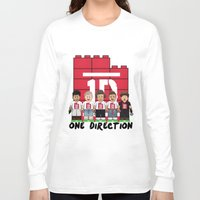 1d Long Sleeve T-shirts featuring Lego: One Direction 1D by Akyanyme