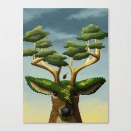 Surreal Deer Canvas Print