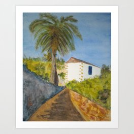 Betancuria´s Typical house Art Print