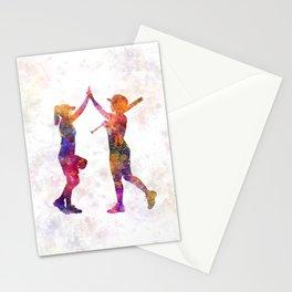 women playing softball 01 Stationery Cards