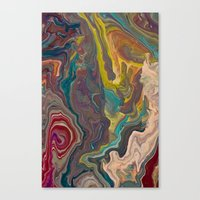 agate Canvas Prints featuring Agate by Jelly and Paul
