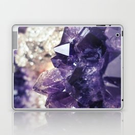 Crystal gemstone - ultra violet Laptop & iPad Skin