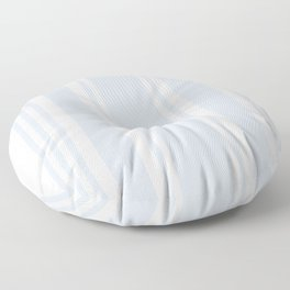 Pale Blue Gray Stripe no.05 Floor Pillow