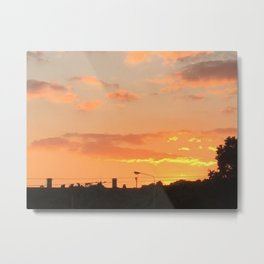 Sunset in Japan Metal Print