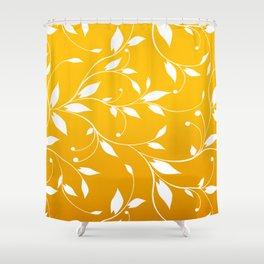 FLOWERY VINES | yellow white Shower Curtain