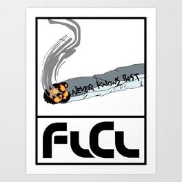 FLCL Never Knows Best Cigarette Art Print