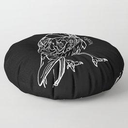 Raven White Floor Pillow