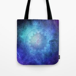 Abstract Flower of life Deep Space Tote Bag