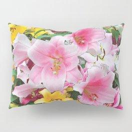 SPRING LILIES FLOWER GARDEN MEDLY Pillow Sham