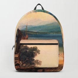 Lake Leman and Mont Blanc - Joseph Mallord William Turner Backpack