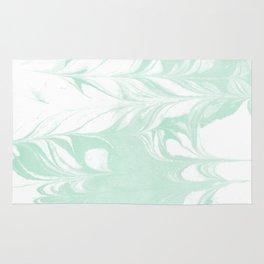 Marble mint 2 Suminagashi watercolor pattern art pisces water wave ocean minimal design Rug