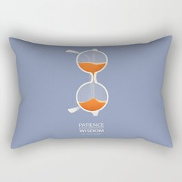 Patience Is The Companion Of Wisdom-St. Augustine Quote Rectangular Pillow
