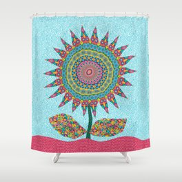 Fabby Flower-Eden colors Shower Curtain