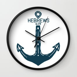 Hebrews Anchor Wall Clock