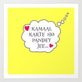 Pandey ji Art Print
