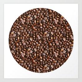 Coffee Bean Photo Pattern Art Print