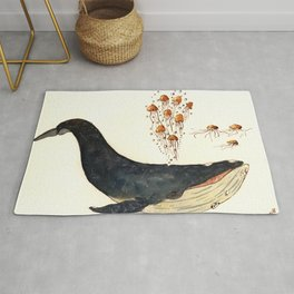 the jellies and the whale Rug