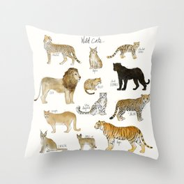 Wild Cats Throw Pillow