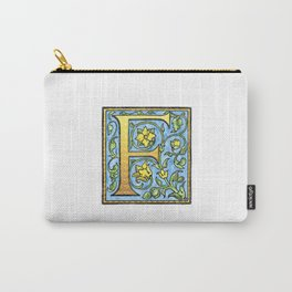Monogram Initial Alphabet Letter 'F' Carry-All Pouch