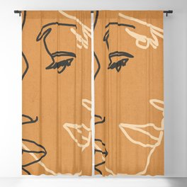 Abstract Face 15 Blackout Curtain