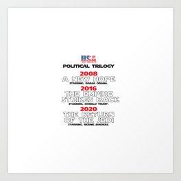 USA Presidential trilogy Art Print