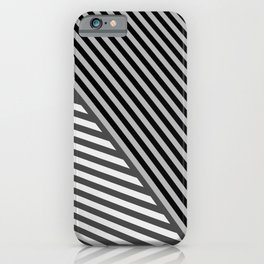 stripes. gray iPhone Case