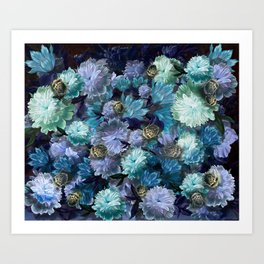"""""""Baroque floral with bugs"""" Art Print"""
