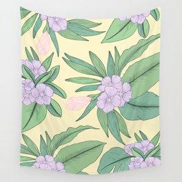 Jungle Daydream Purple Floral Print Wall Tapestry