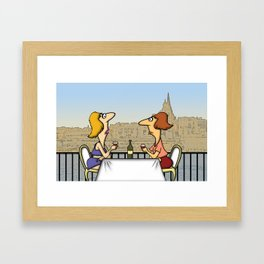 Cafe Tigne Framed Art Print