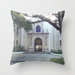 Corpus Christi Catholic Church - New Orleans LA Throw Pillow