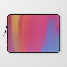 colorful abstract art using mixer brushes Laptop Sleeve