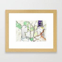 Bride & Groom Framed Art Print