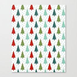 Christmas Tree holiday dots snow polka dot minimal modern geometric christmas decor design Canvas Print