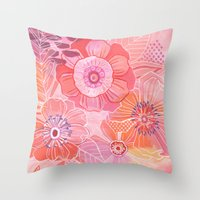 Hooray Pink! Throw Pillow