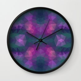 Mozaic design in bright colors Wall Clock