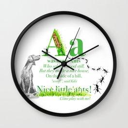 NICE LITTLE ANTS Wall Clock