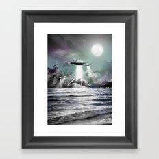 Whaling UFO Framed Art Print